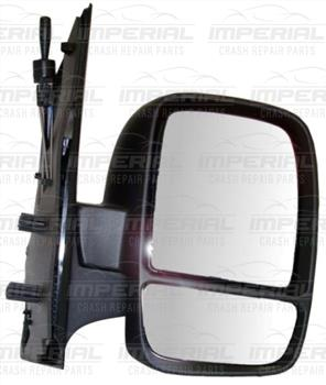 Fiat Scudo 2007-2016 Door Mirror Manual Type With Black Cover (Twin Glass) O/S