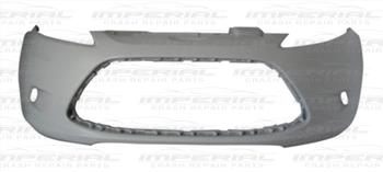 Ford Fiesta 5 Door MK7 2008-2012 Front Bumper No Lamp Holes - Not Primed (Standard Models)