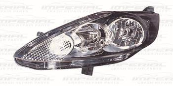 Ford Fiesta 5 Door MK7 2008-2012 Headlamp Black Type Near Side