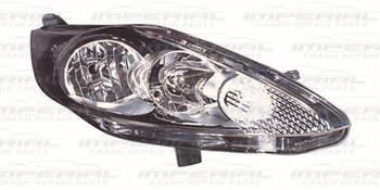 Ford Fiesta 5 Door MK7 2008-2012 Headlamp Black Type Off Side