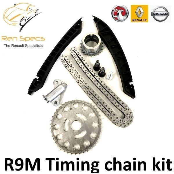 NEW GENUINE OEM - TIMING CHAIN KIT R9M ENGINE - 1.6 DCI  with tensioner & guides