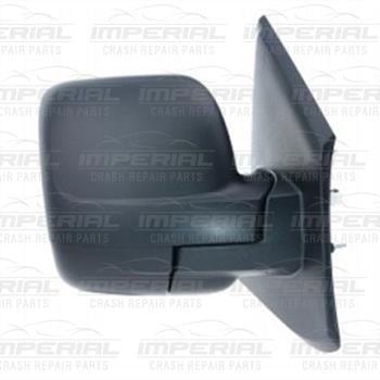 New Renault Trafic III Drivers Door Mirror Electric Heated Type With Black Cover