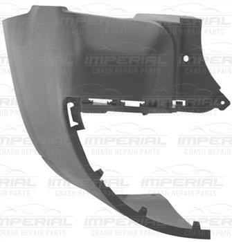 Peugeot Partner 2008 - 2012 Rear Bumper Outer Black Section (Long Wheel Base Twin Dr Models) Near Si