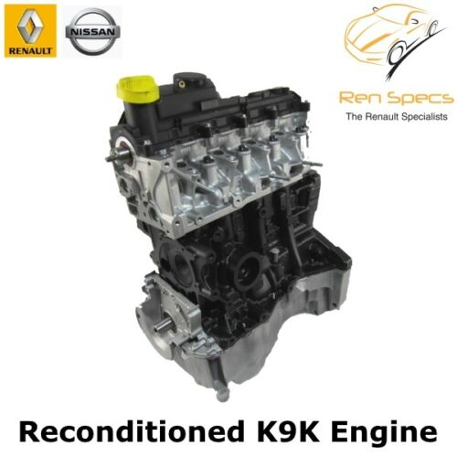 Renault Clio / Kangoo / Modus / Scenic  - Fully Reconditioned BARE K9K 764 / 832 Engine 1.5 dci cdti