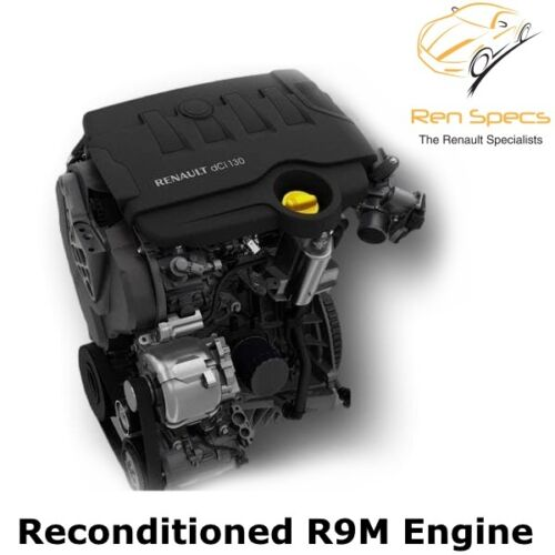 Renault Megane & Scenic 1.6 dci R9M 402 / 404 / 414 Fully Reconditioned Recon Engine